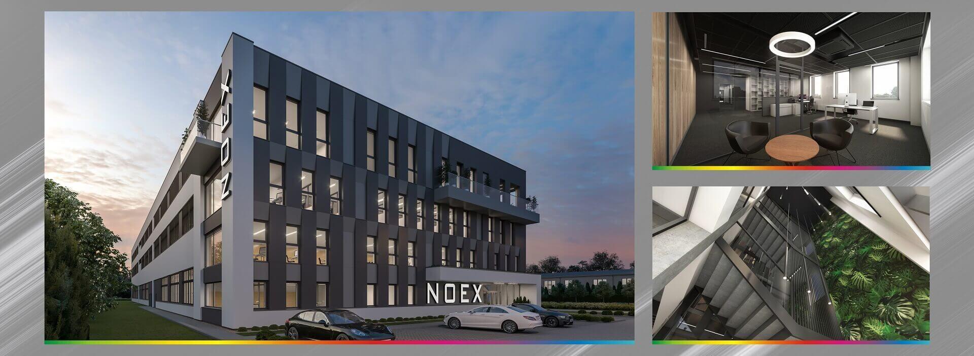 nowoczesna siedziba noex zzewnątrz